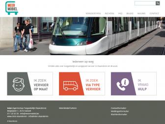 Screenshot van de MeerMobiel website
